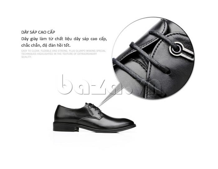 giày da Olumpo QYS1301 dây sáp cao cấp của giày da Olumpo QYS1301 làm chắc chắn và bền tốt