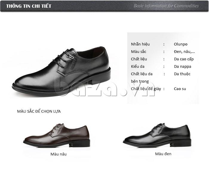 Những màu sắc của giày da Olumpo QYS1301 để bạn chọn lựa