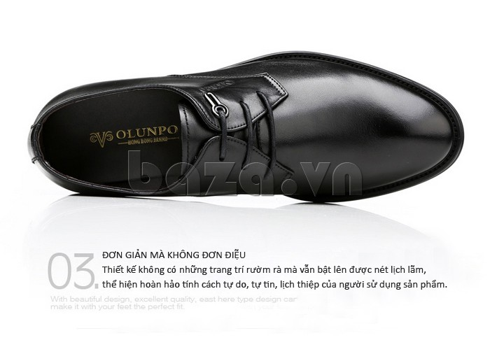 giày da Olumpo QYS1301 thiết kế đơn giản mà không đơn điệu
