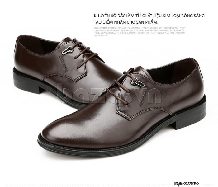 giày da Olumpo QYS1301 màu cafe sang trọng