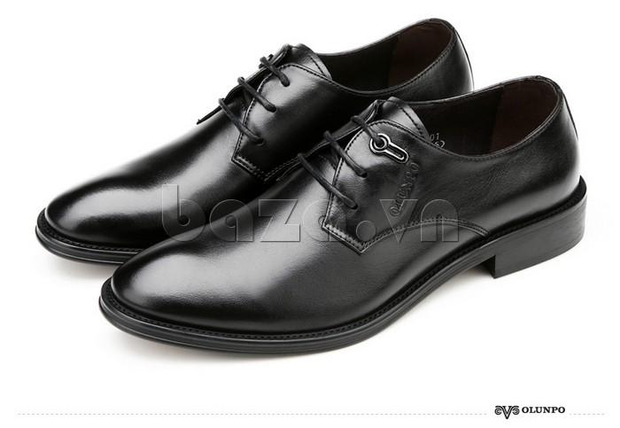giày da Olumpo QYS1301 màu đen cuốn hút, sang trọng