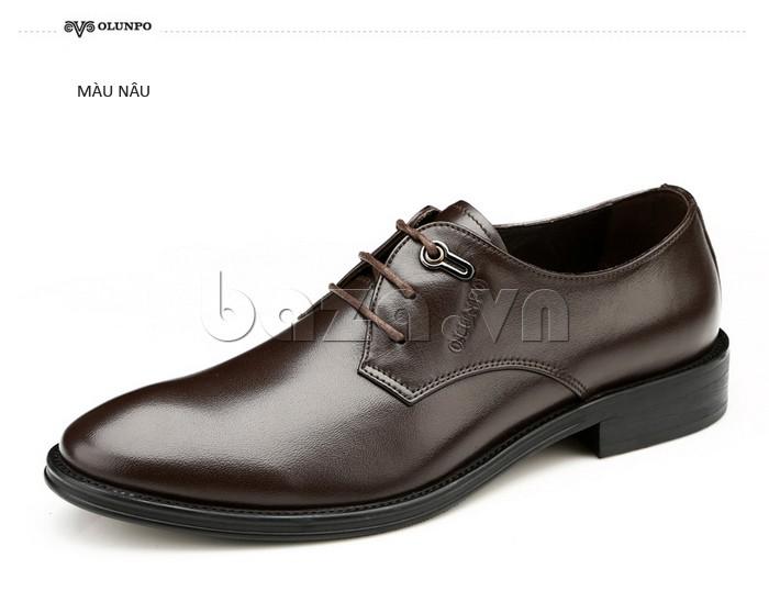 giày da Olumpo QYS1301 màu nâu cổ điển nhưng rất lôi cuốn