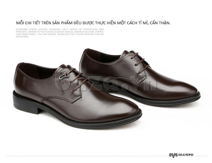 Mỗi chi tiết trên giày da Olumpo QYS1301 đều được làm hết sức tỉ mỉ và cẩn thận