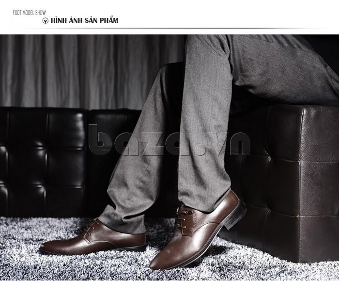 giày da Olumpo QYS1301 đẹp và thời trang khiến bao nam giới đều khao khát