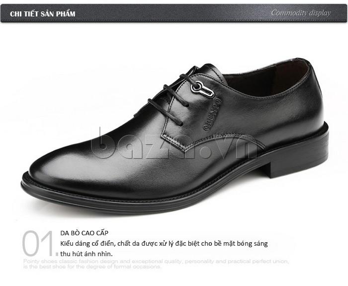 giày da Olumpo QYS1301 làm từ da bò cao cấp, kiểu dáng cổ điển