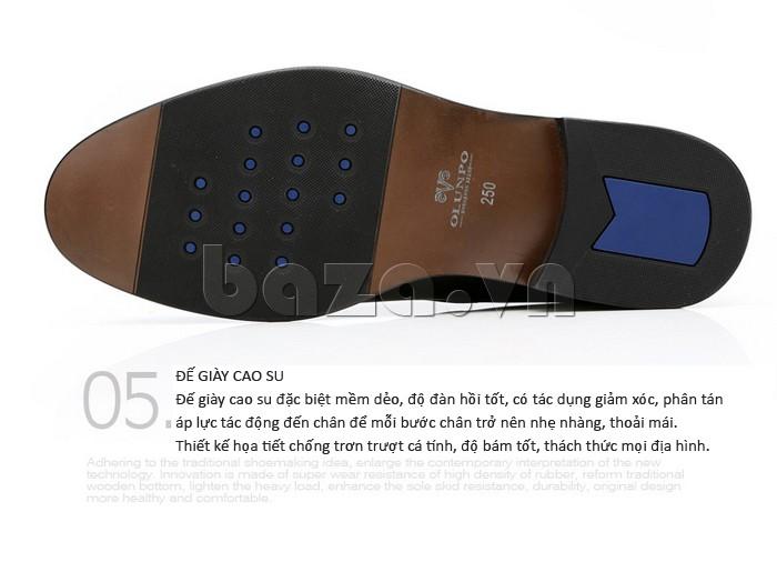 giày da Olumpo QYS1301 đế giày cao su chống trơn trượt và giúp nam giới bám tốt trên mọi địa hình