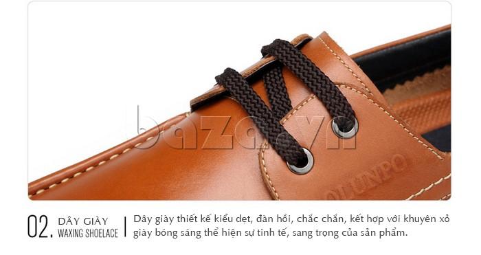 Dây giày kiểu dẹt, có tính đàn hồi và chắc chắn