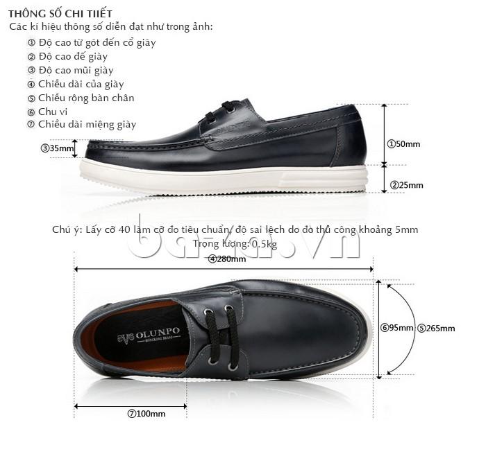 Giầy da nam Olunpo CXYF1401 - Đẳng cấp giày da nam chính hãng