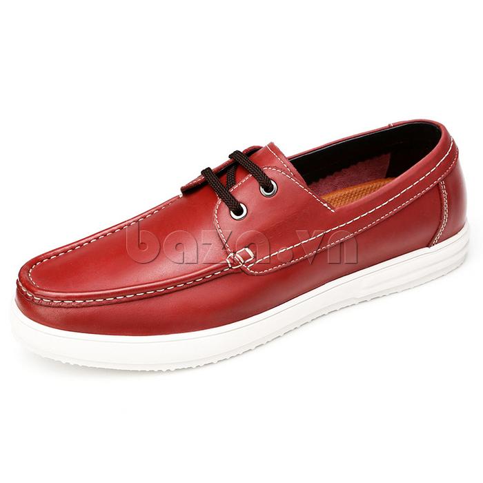 Giầy da nam Olunpo CXYF1401 màu đỏ thời trang