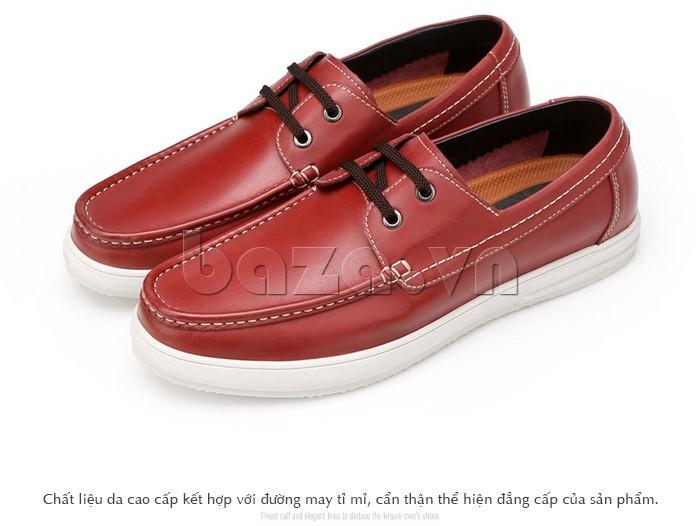 Giầy da nam Olunpo CXYF1401 màu đỏ chất lượng cao cấp