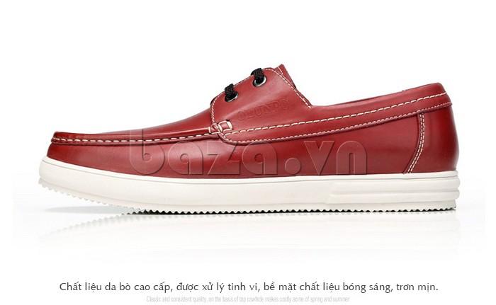 Giầy da nam Olunpo CXYF1401 màu đỏ cho những anh chàng cá tính