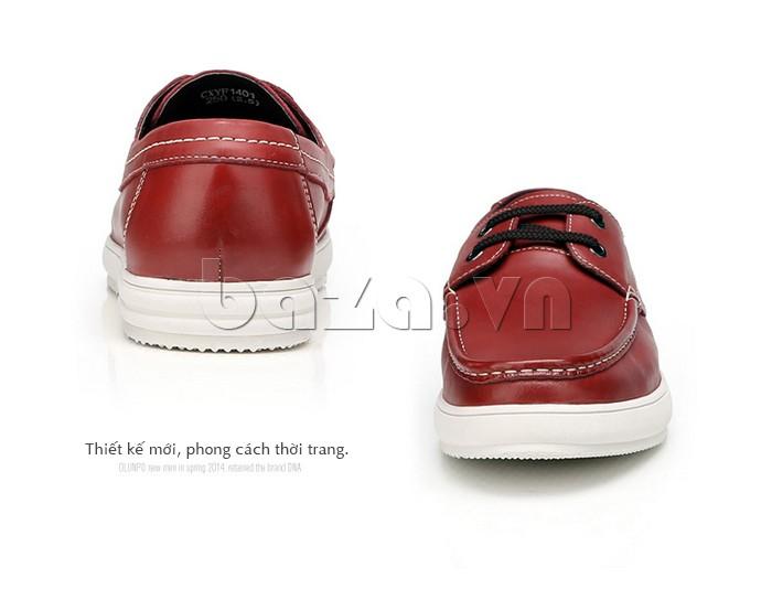 Giầy da nam Olunpo CXYF1401 màu đỏ sẽ khiến bạn thật nổi bật