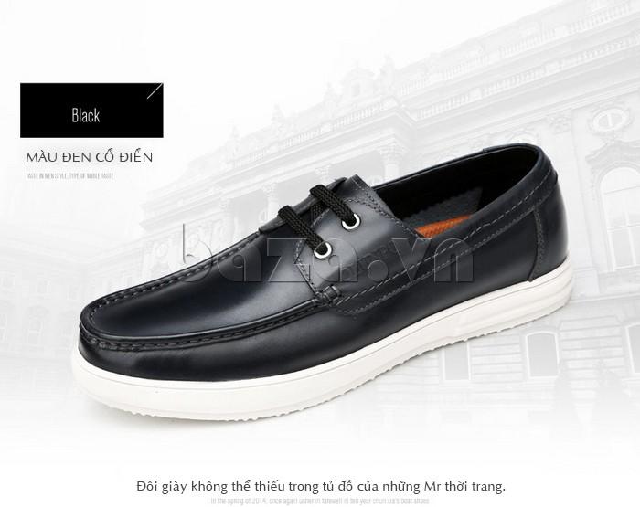 Giầy da nam Olunpo CXYF1401 màu đen cổ điển