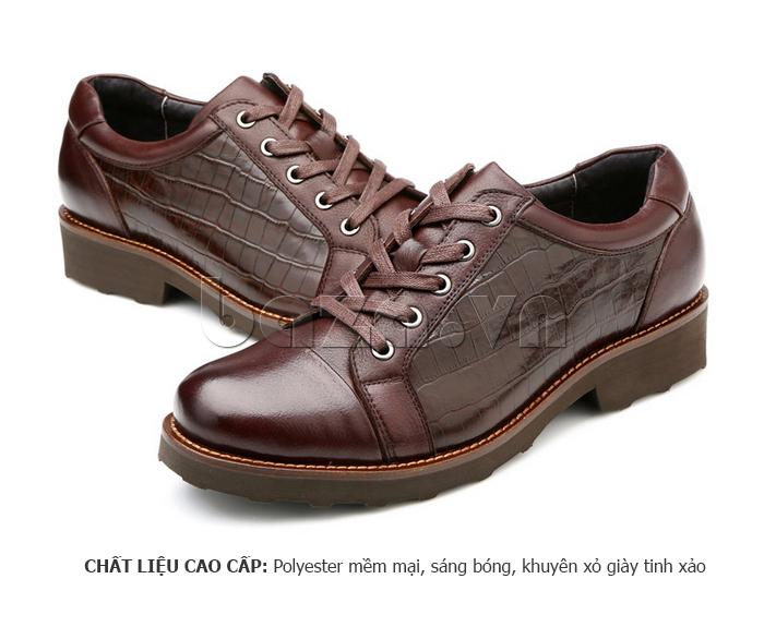 Giày da nam Olunpo QZK1405 sử dụng chất liệu cao cấp