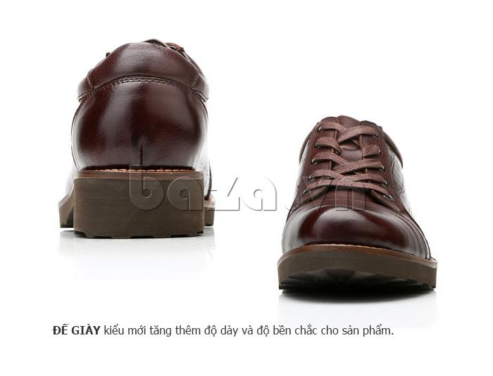 Giày da nam Olunpo QZK1405 thiết kế đế cao ấn tượng