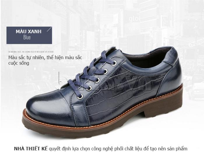 Giày da nam Olunpo QZK1405 màu xanh tự nhiên