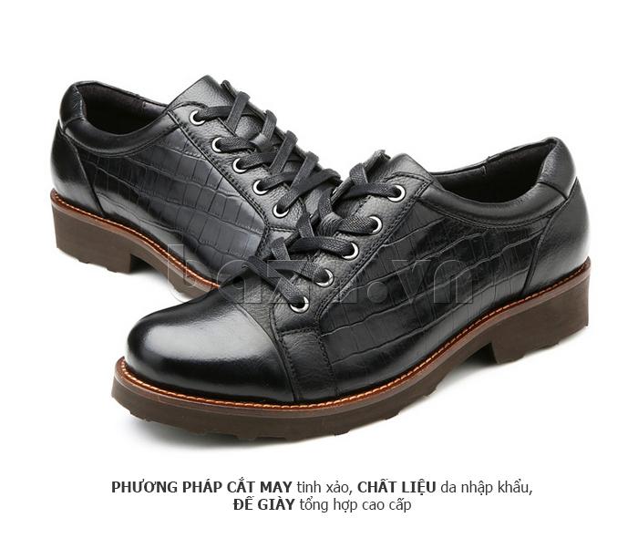 Giày da nam Olunpo QZK1405 có phương pháp cắt may tinh xảo