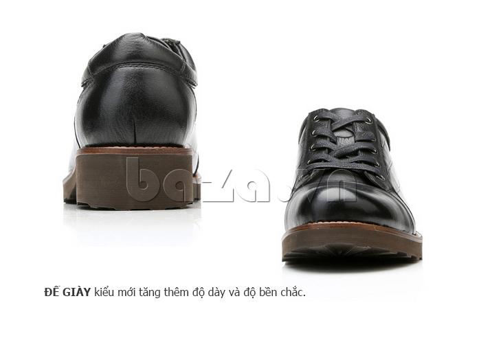Giày da nam Olunpo QZK1405 đế cao tôn dáng