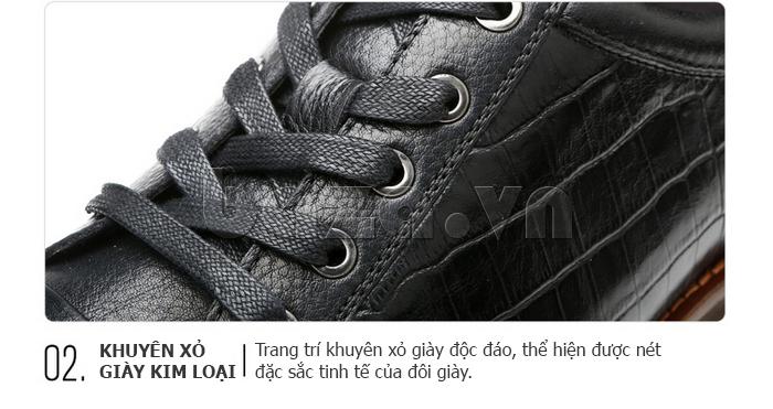 Khuyên xỏ của Giày da nam Olunpo QZK1405 đẹp mắt