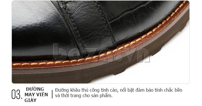 Thiết kế đường viền của Giày da nam Olunpo QZK1405 độc đáo