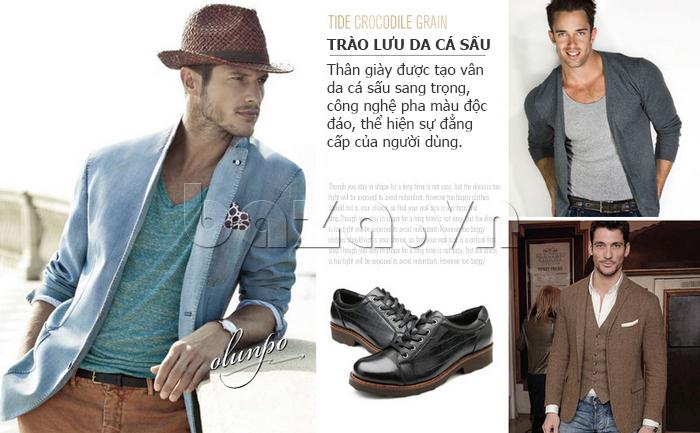 Giày da nam Olunpo QZK1405 tôn lên nét nam tính cho nam giới