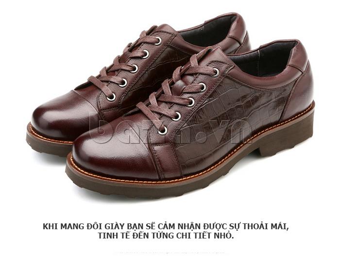 Giày da nam Olunpo QZK1405 giúp nam giới thoải mái