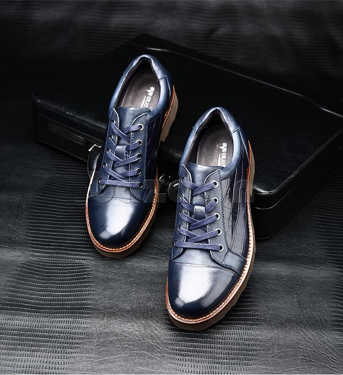 Giày da nam Olunpo QZK1405 màu xanh sang trọng