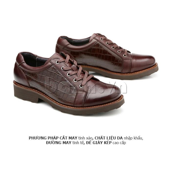 Giày da nam Olunpo QZK1405 đường cắt may tinh tế