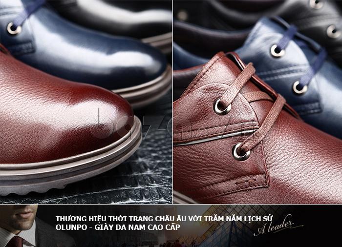 Giày da nam Olunpo QZK1404 đẹp và hiện đại