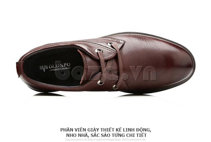 Giày da nam Olunpo QZK1404 phần viền đế thiết kế linh động