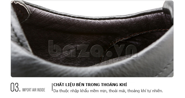 Giày da nam Olunpo QZK1404 sử dụng chất liệu da thuộc cao cấp