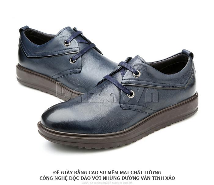 Giày da nam Olunpo QZK1404 đế giày làm bằng cao su