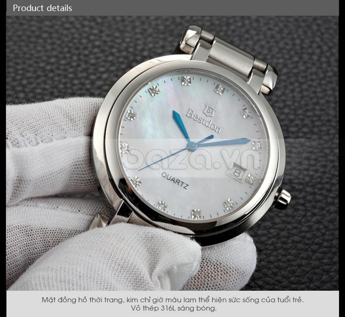 Đồng hồ thời trang Bestdon BD9922G kim chỉ giờ màu xanh