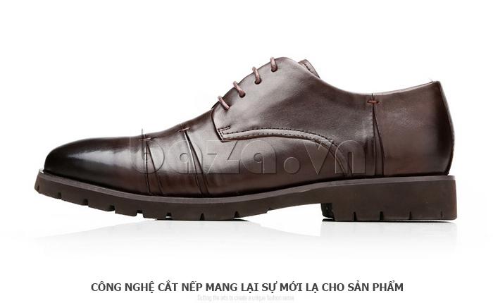 Giày da nam Olunpo QDT1404 sử dụng công nghệ cắt nếp mới lạ