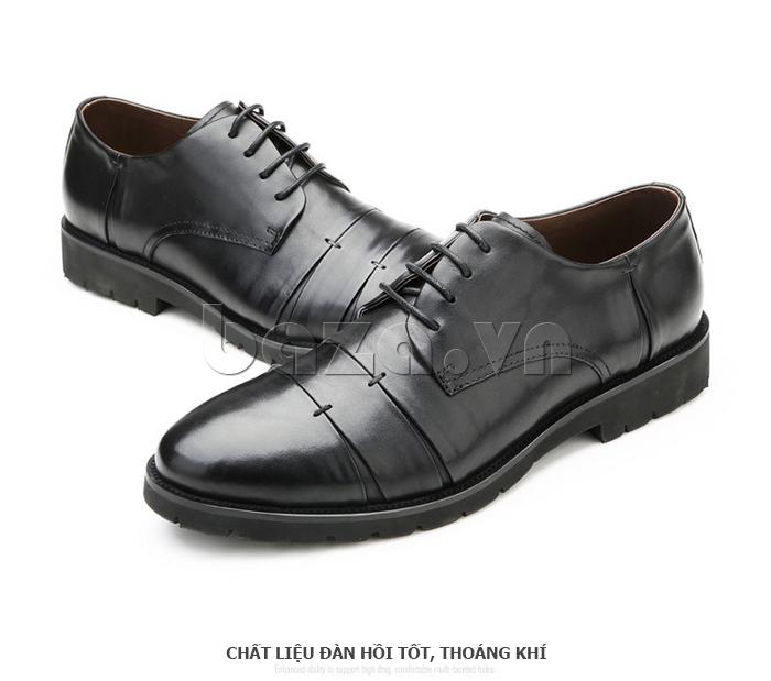 Giày da nam Olunpo QDT1404 chất liệu đàn hồi, thoáng khí