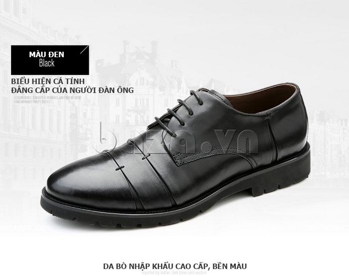 Giày da nam Olunpo QDT1404 màu đen sang trọng quyến rũ