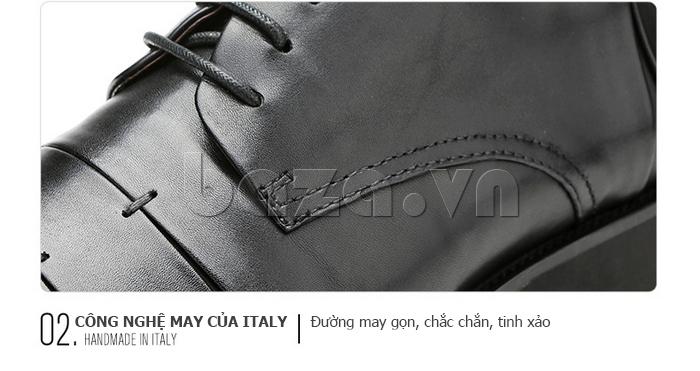 Giày da nam Olunpo QDT1404 sử dụng công nghệ Italia
