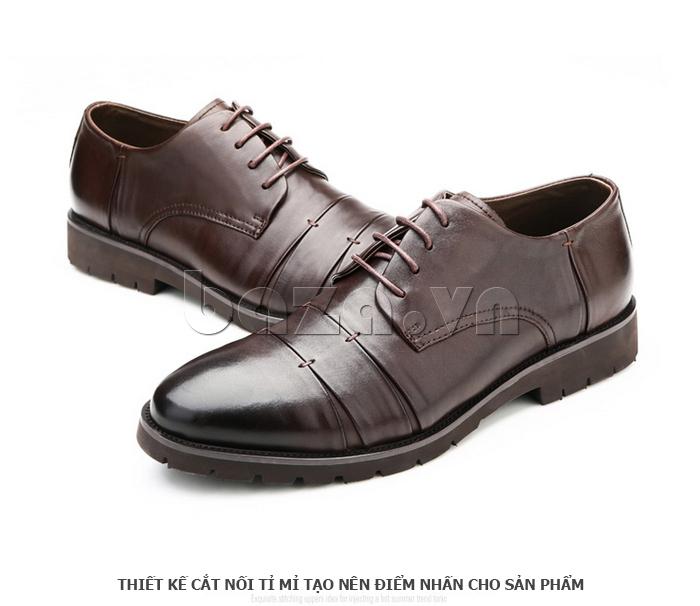 Giày da nam Olunpo QDT1404 sang trọng đến từng chi tiết