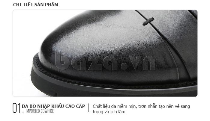 Giày da nam Olunpo QDT1404 sử dụng da bò cao cấp nhập khẩu