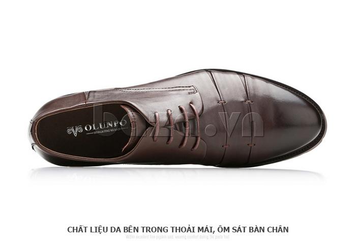 Giày da nam Olunpo QDT1404 chất liệu da bên trong thoáng mát