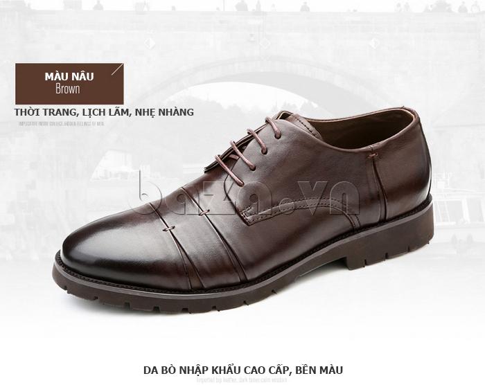 Giày da nam Olunpo QDT1404 sử dụng da bò nhập khẩu bền màu