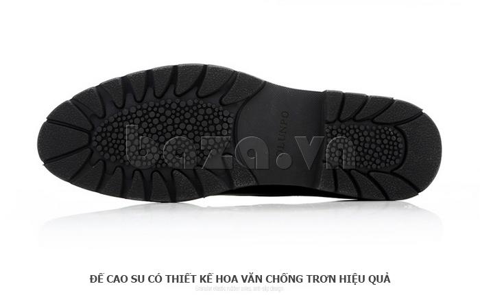 Giày da nam Olunpo QDT1404 đế cao su chống trơn hiệu quả