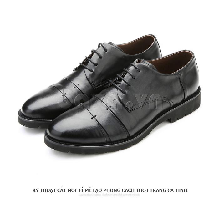 Giày da nam Olunpo QDT1404 sử dụng kỹ thuật cắt nối tỉ mỉ