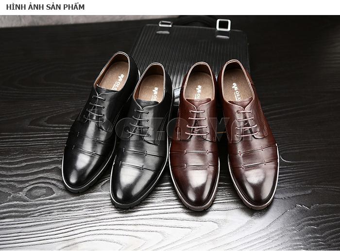Giày da nam Olunpo QDT1404 có hai màu