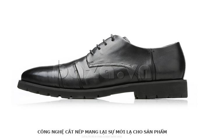 Giày da nam Olunpo QDT1404 sử dụng công nghệ cắt nếp