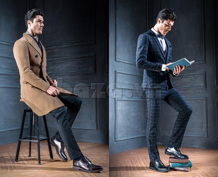 Giày da nam Olunpo QDT1404 sang trọng cho nam giới