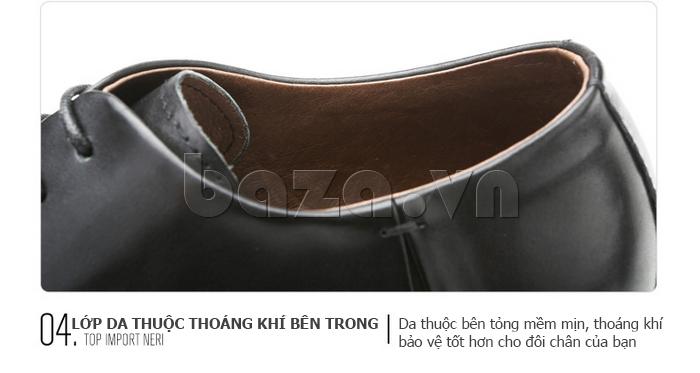 Giày da nam Olunpo QDT1404 sử dụng da thuộc cao cấp
