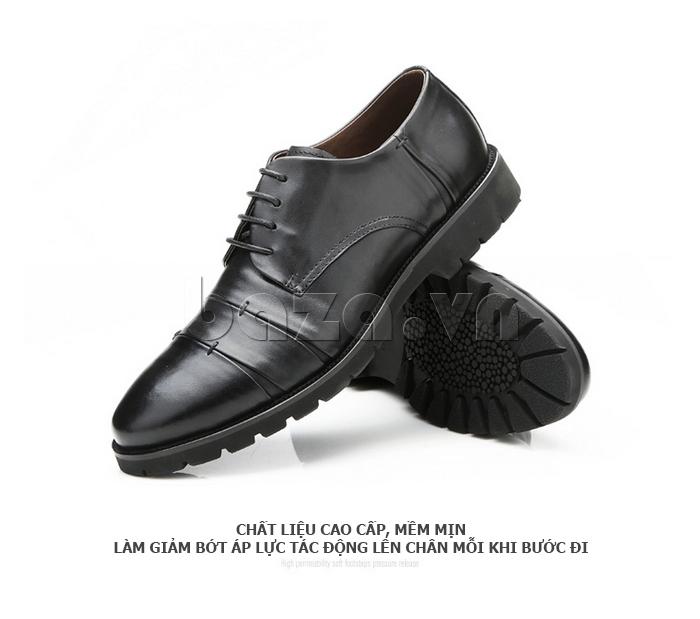 Giày da nam Olunpo QDT1404 chất liệu cao cấp mềm mịn