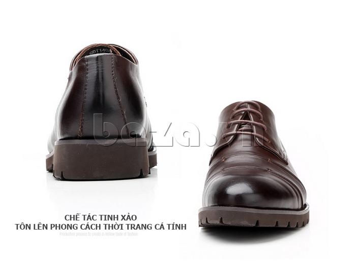 Giày da nam Olunpo QDT1404 được chế tác tinh xảo và thời trang