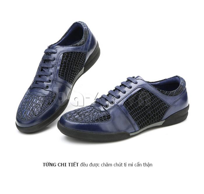 Giày da nam Olunpo QHT1425 tỉ mỉ từng chi tiết